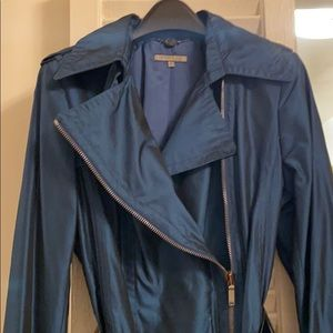 Ann Klein trench coat ( pearlescent blue )
